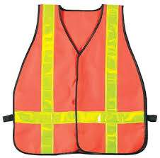 SAFETY VEST W/2INS REFLECTOR RED WHEEL