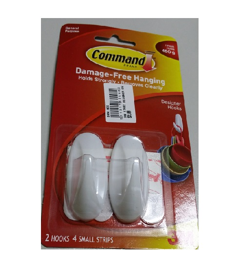 3M 17082 DESIGNER SMALL HOOK W COMMAND